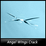 Angel Wings Windshield Crack